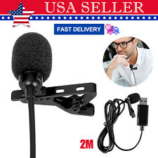 6ft Mini Portable USB Clip on Lapel Micphone Mic for Chatting Conference Meeting