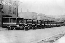 ANTIQUE 1920S U.S. MAIL TRUCKS IN NEW YORK 8x12 SILVER HALIDE PHOTO PRINT