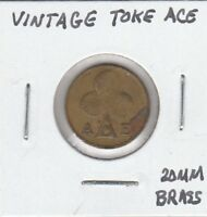 (V)  Token - Vintage Token - ACE - 20 MM Brass