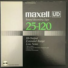 Maxell UD 25-120 7' reel to reel tape  2,400 ft EXCELLENT
