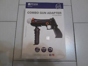 PS3 : COMBO GUN ADAPTER per Move - Nuovo ! Pistola per controller Navigazione !