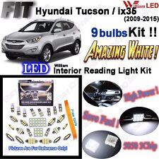 9 Bulbs Xenon White LED Interior Light Kit For Hyundai Tucson / ix35 2009-2015