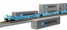 KATO 106-6199 N Gunderson Maxi-i Double Stack 5 Car Maersk Set #100043