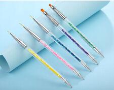 5 pieces Double headed Nail Brush dotting pen/ Detailing Striping Nail Art Brush