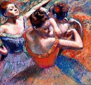 Dancers A1+ by Edgar Degas High Quality Canvas Print