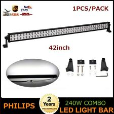 Philips 42inch 240W LED Light Bar Spot Flood Offroad Lamp Truck Vehicle JEEP UTE