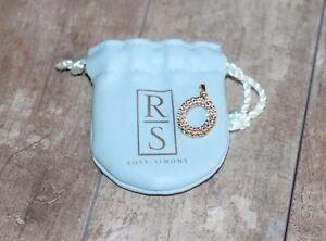 Ross Simons Diamond Oval Gold over 925 Sterling Silver Pendant