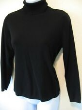 Chico's Black Turtleneck knit Top Size 1 Small