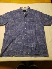 TOMMY BAHAMA Short Sleeve Men's Button-Down Shirt Size Large