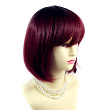 Wiwigs ® Gorgeous Short Bob Style Wigs Blonde Red Black Grey Dip-Dye Ombre Hair