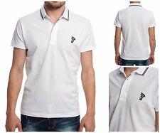 Men Short Sleeve Polo Shirt Versace Golf Top Neck White Color XL Free Shipping