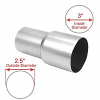 """2.5/"""" OD to 2 1//2"""" OD Exhaust Component Insert Coupling Mild Steel Pipe Adapter"""