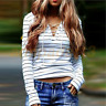 Women Round Neck Long Sleeve T-Shirt Summer Casual Loose Tops Blouse Tee shirt