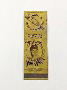 RARE 1958 Yoo-Hoo Mickey Mantle Empty Matchbook