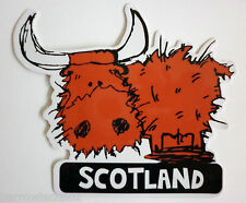 SCOTLAND Highland Cow, Car Sticker / Decal - Fun SCOTTISH Souvenir Gift
