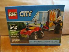 LEGO City 60105 New 64 pcs Fire ATV Fireman Fighter Mini Figure Burning Window