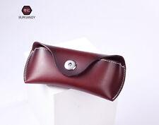 Real Leather Glasses Box Handmade Case Jeans Belt  Eye Glasses Bag Holder New