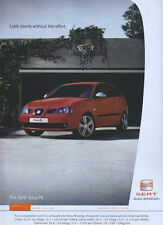 "Seat Ibiza FR ""look Sporty Without The Effort"" 2004 Magazine Advert #140"