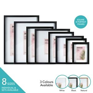 Cooper & Co Premium Wooden Shadow Box Photo Frame Set Picture Large Wall Gallery