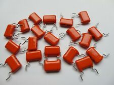 More details for 20 x philips-mullard 470nf 0.47uf 10% 100v orange drop capacitors mkt nos