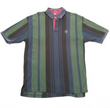 90s Vintage TOMMY HILFIGER Heavy Cotton Thick Striped Polo Shirt | Mens XL