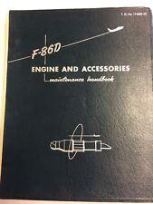 1954 F-86D Engines & Accessories Original Maintenance Handbook