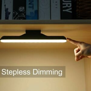 Magnetic Hanging LED Reading Desk Lamp Rechargeable Stepless Dimming Night Light