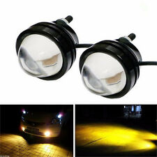 2 x Cree 12V LED Turn Signals DRL 10W Fish eye Lighting Bulbs stop light Yellow