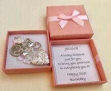 16TH 18TH 21ST 30TH 40TH 50TH BIRTHDAY GIFT PERSONALISED LOCKET LUCKY SIXPENCE