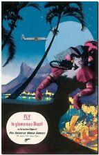 "Cool Retro Travel Poster CANVAS ART PRINT ~Brazil Dancer Panam 8""X 10"""