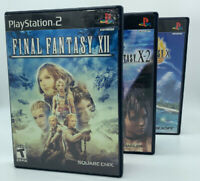 Lot Playstation 2 PS2 Video Games FF Final Fantasy X XII X-2 Bundle