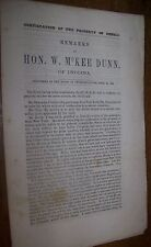 1862 Antique Civil War Document Confiscation of the Property Rebels McKee Dunn