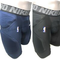 Nike Basketball Hyperstrong Padded Mens Shorts Hip Thigh NBA Player Blue Black