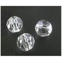 100 Clear Crystal Quartz Faceted Round Beads 6mm P2U1