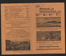 GÖTEBORG, Prospekt 1937, Hallands Angbats AB Stockholms Rederiaktiebolag Svea