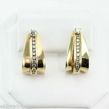 1.50 CT. DIAMOND 4 DIFFERENT WAYS TO WEAR STUD, J-TYPE EARRINGS 14K YELLOW GOLD