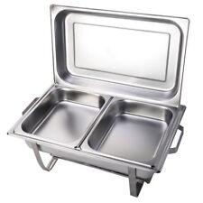 Chafing Dish Speisenwärmer Buffet Wärmebehälter  2 GN-Behlälter 1/2