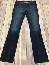 7 FOR ALL MANKIND Women's Straight Leg Jeans Sz Dark Rinse