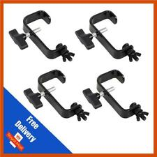 4 x Heavy Duty 50mm G Clamp Steel Hook Bracket | DJ | Truss | Disco | Lighting