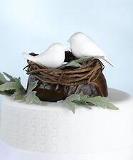 Cake topper uccellini bianchi matrimonio torta uccelli supporto bianco lucido