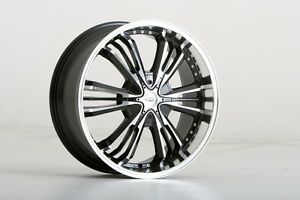 "Brand New Zora-13 wheels 22"" Staggered Face Machined Black (5x120) (Set of 4)"