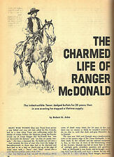 Texas Ranger Captain Bill McDonald - Legendary Lawman