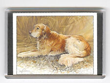 GOLDEN RETRIEVER LARGE FRIDGE MAGNET 6