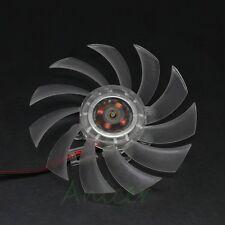 Computer PC VGA Video Card Heatsink Cooler Cooling 75mm 2pin Fan Multi-Size Hole