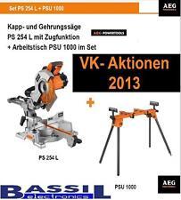 AEG Kapp- und Gehrungssäge Set PS 254 L+ PSU 1000