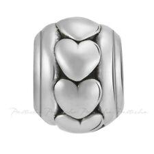 Lovelinks Bead Sterling Silver, Heart Oxidized Charm Spacer Design Jewelry TT517