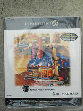 DEPT 56 NORTH POLE VILLAGE NORTH POLE PORCELAIN BUILDING WORKS NIB *Read*