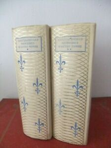CHATEAUBRIAND  - MEMOIRES D'OUTRE-TOMBE - 4 TOMES EN 2 VOLUMES