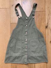 Zara Girls Dungaree Dress Khaki 11-12y
