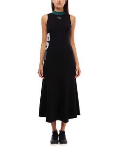 adidas Originals Women's EQT Embroidered A-Line Cotton Long Knit Maxi Dress XS